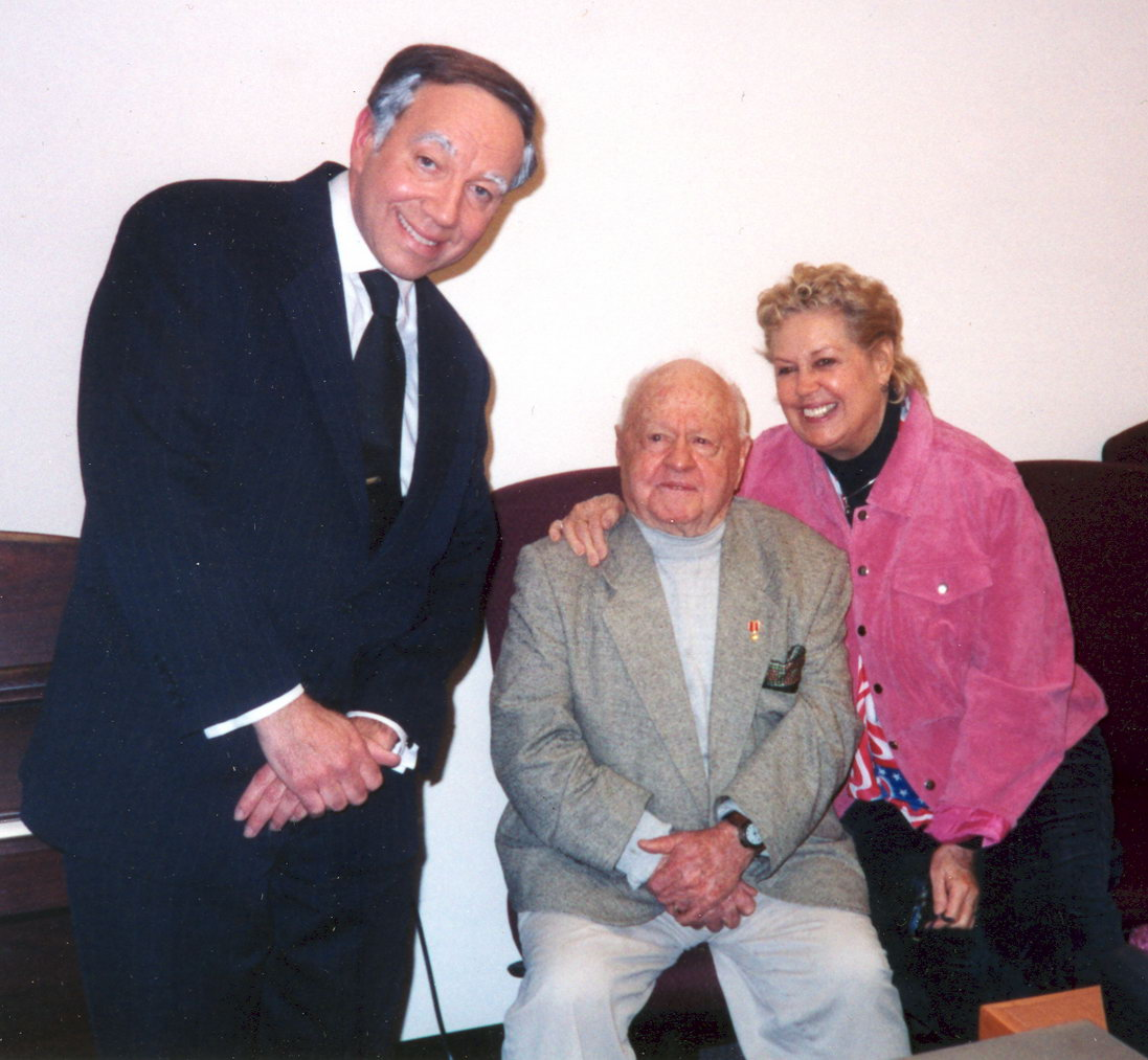 Michael Townsend Wright with Mickey and Jan Rooney